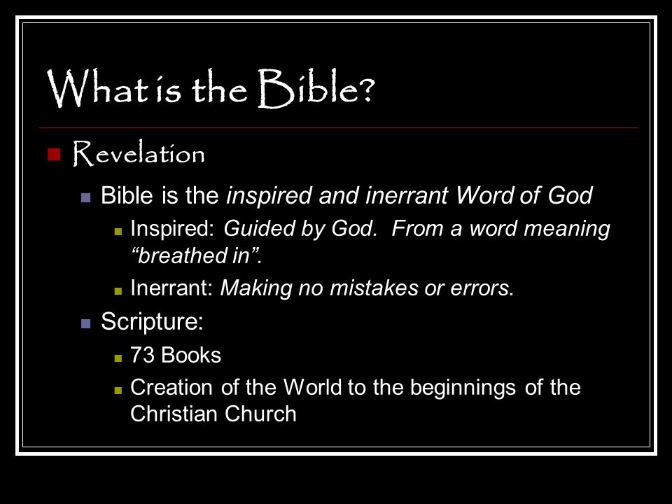 What is the Bible Revelation