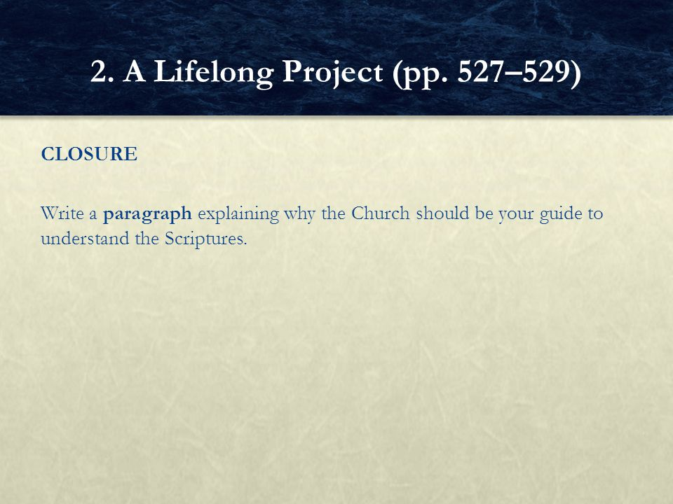 2. A Lifelong Project (pp. 527–529)