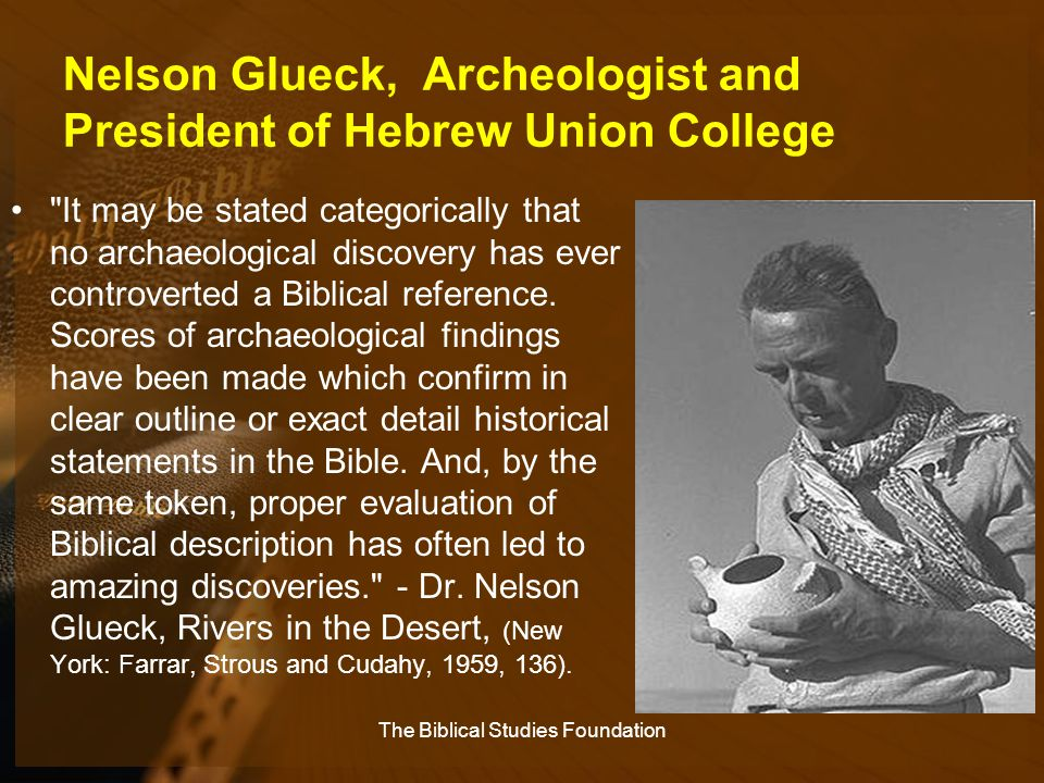 Nelson Glueck, Archeologist and President of Hebrew Union College