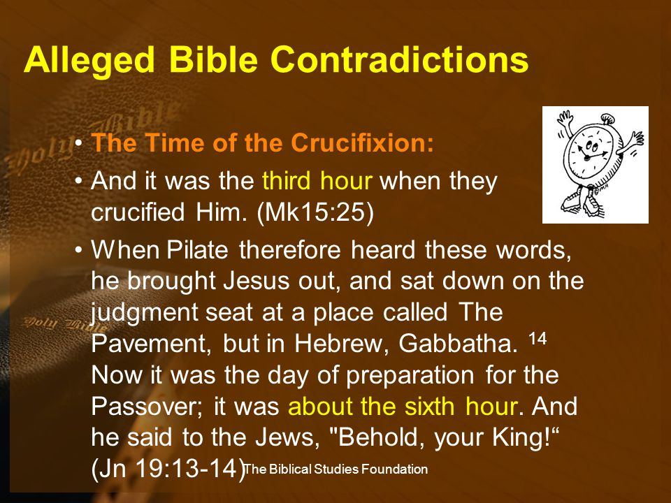 Alleged Bible Contradictions