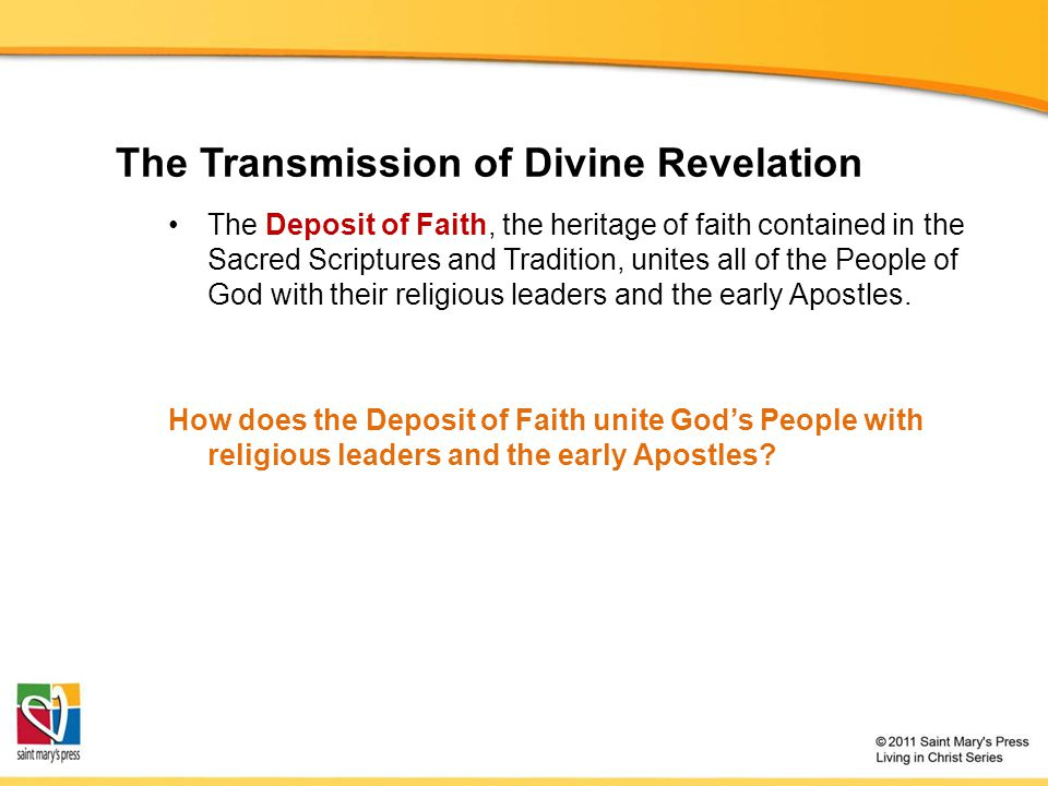The Transmission of Divine Revelation