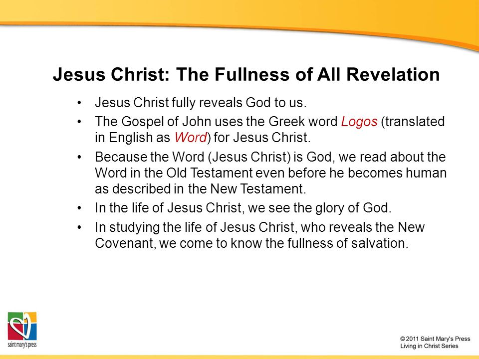 Jesus Christ: The Fullness of All Revelation