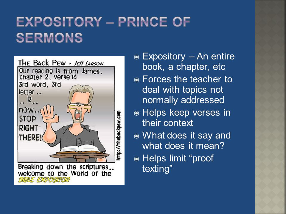 Expository – prince of sermons