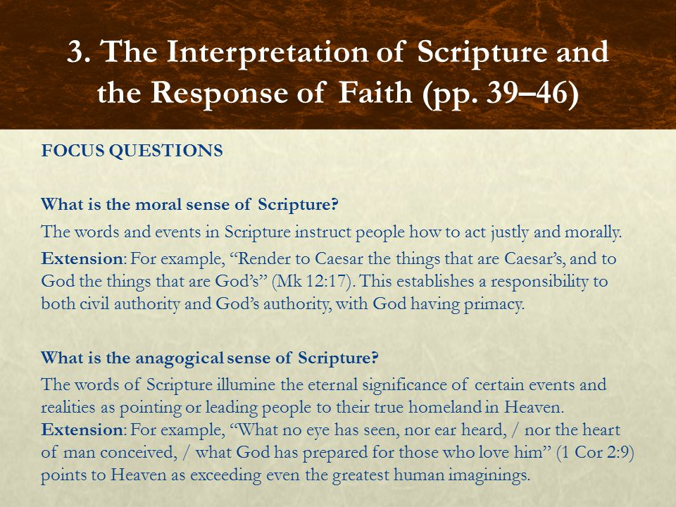 3. The Interpretation of Scripture and the Response of Faith (pp