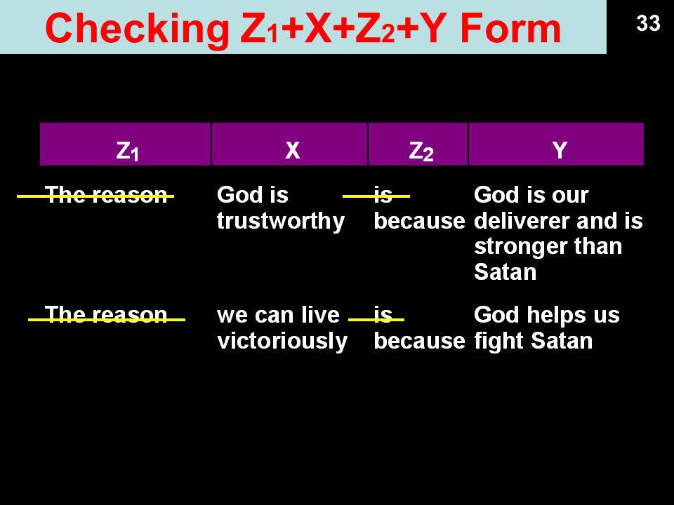 Checking Z1+X+Z2+Y Form 33 09.13