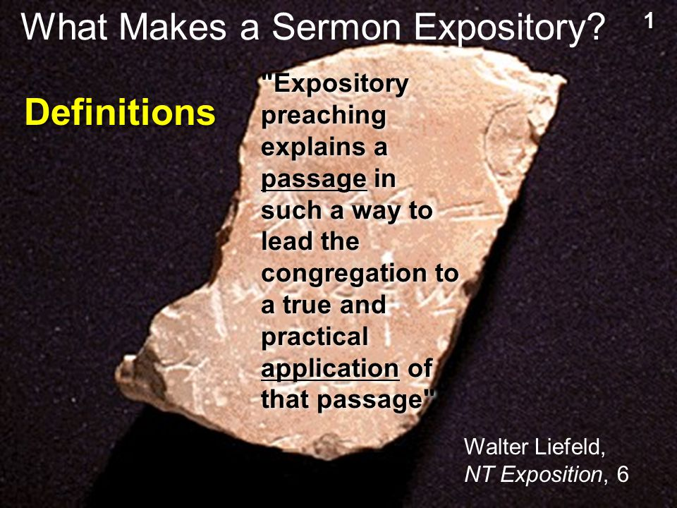 What Makes a Sermon Expository