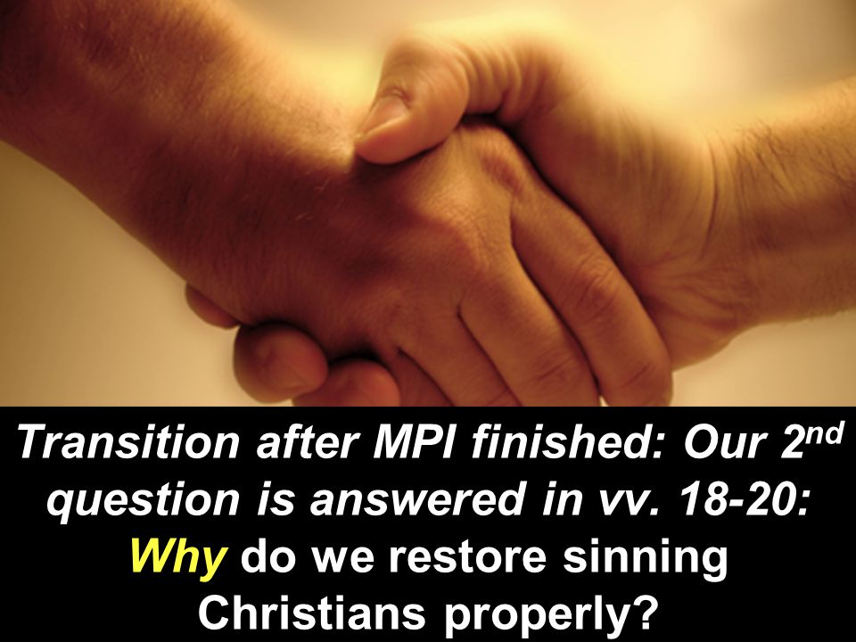 Transition after MPI finished: Our 2nd question is answered in vv