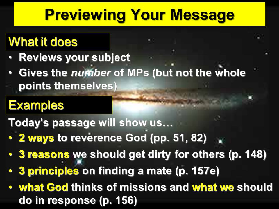 Previewing Your Message