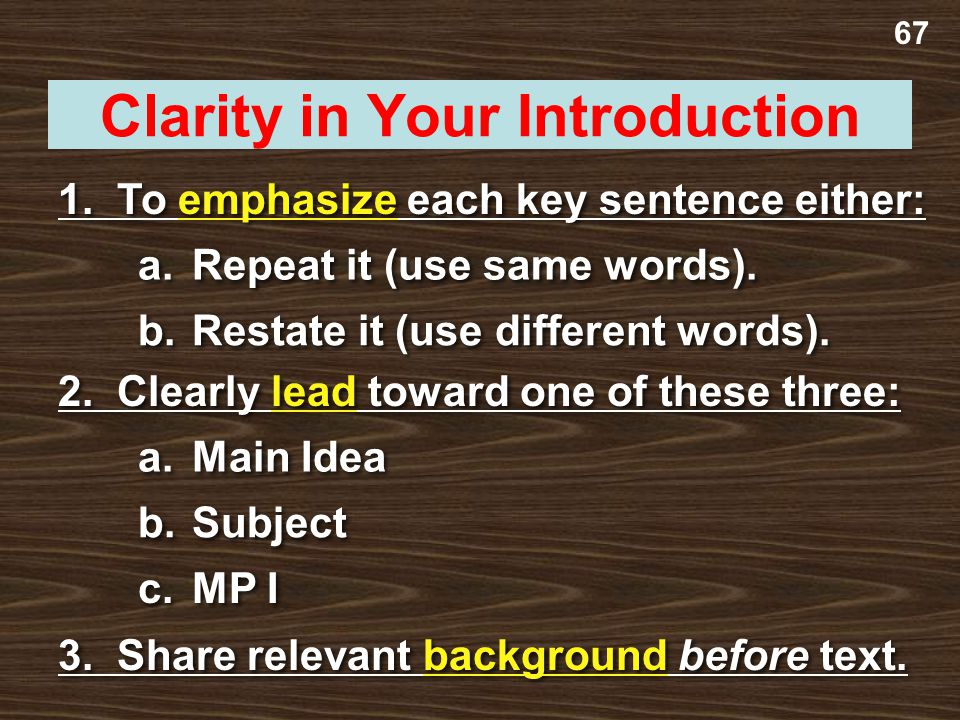 Clarity in Your Introduction