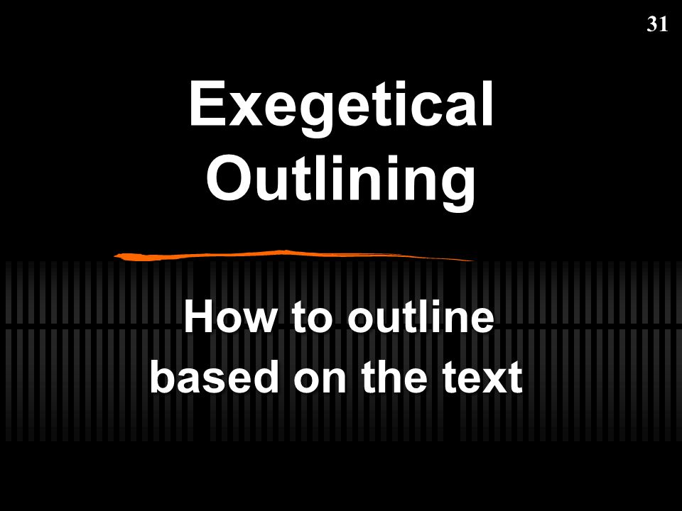 How to outline based on the text