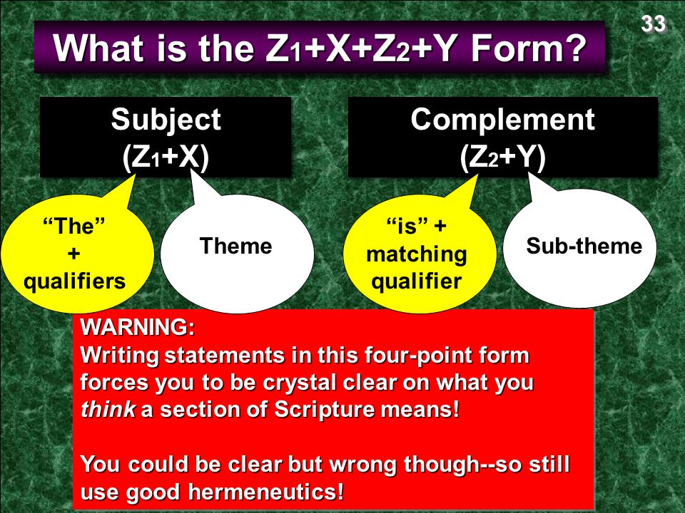What is the Z1+X+Z2+Y Form