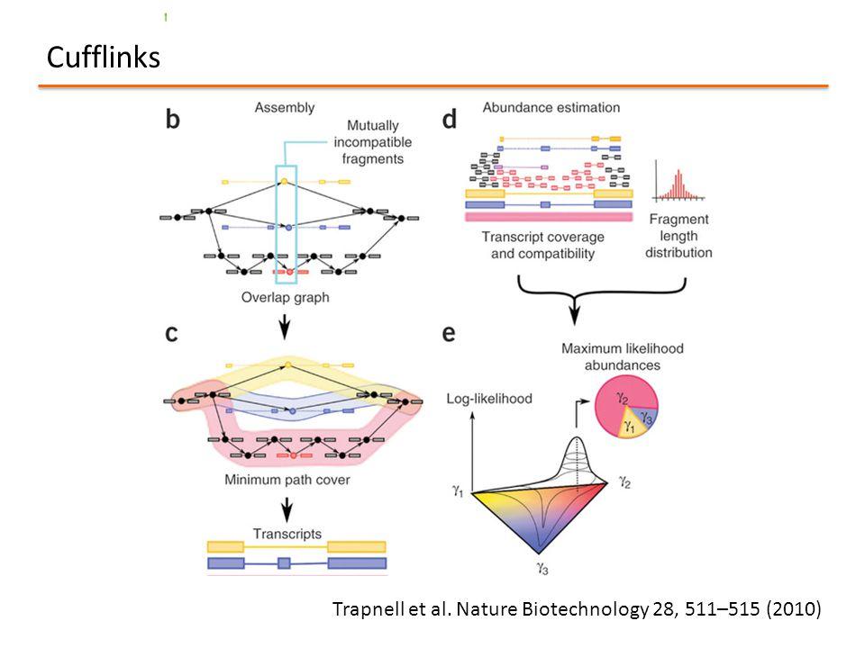 Cufflinks Trapnell et al. Nature Biotechnology 28, 511–515 (2010)