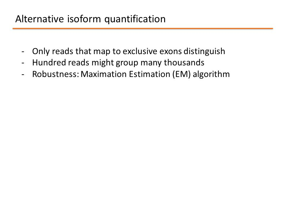 Alternative isoform quantification