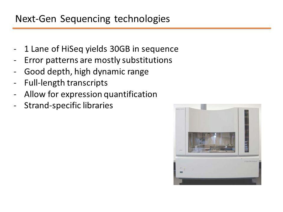 Next-Gen Sequencing technologies