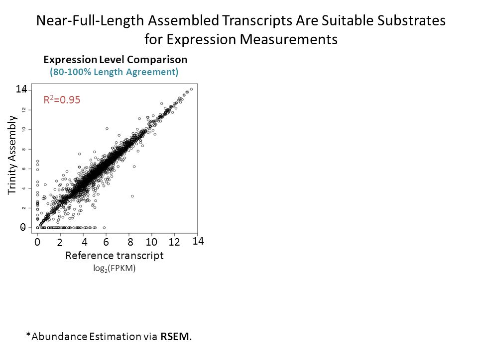 Near-Full-Length Assembled Transcripts Are Suitable Substrates for Expression Measurements