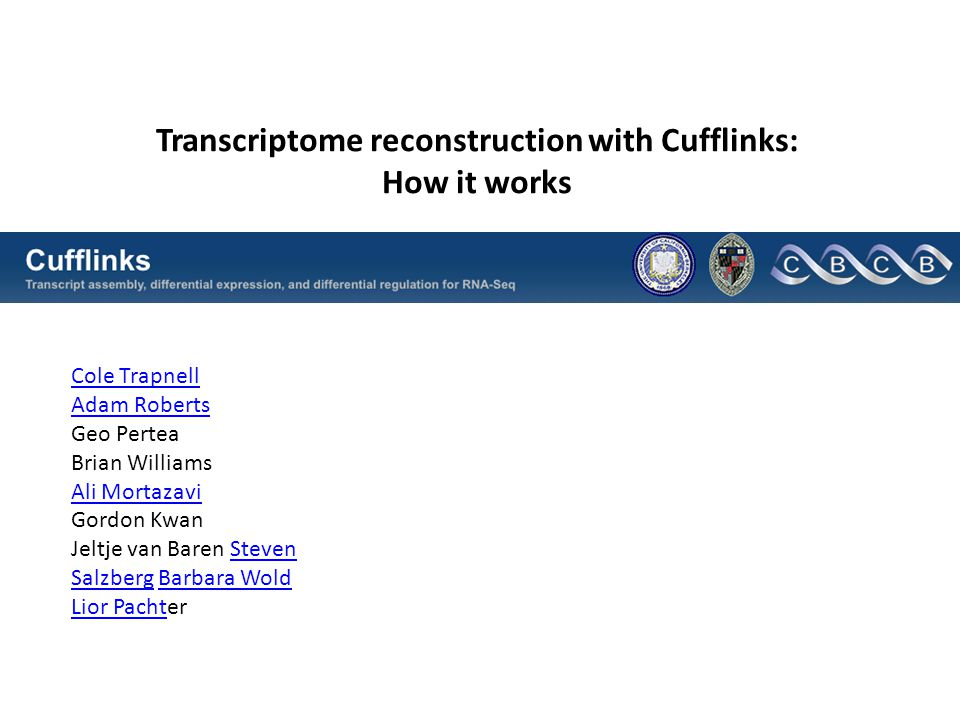 Transcriptome reconstruction with Cufflinks: How it works