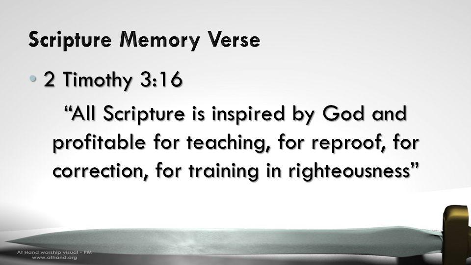Scripture Memory Verse