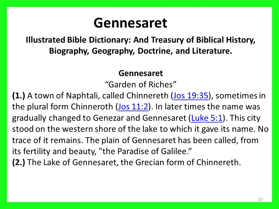 Gennesaret Illustrated Bible Dictionary: And Treasury of Biblical History, Biography, Geography, Doctrine, and Literature.