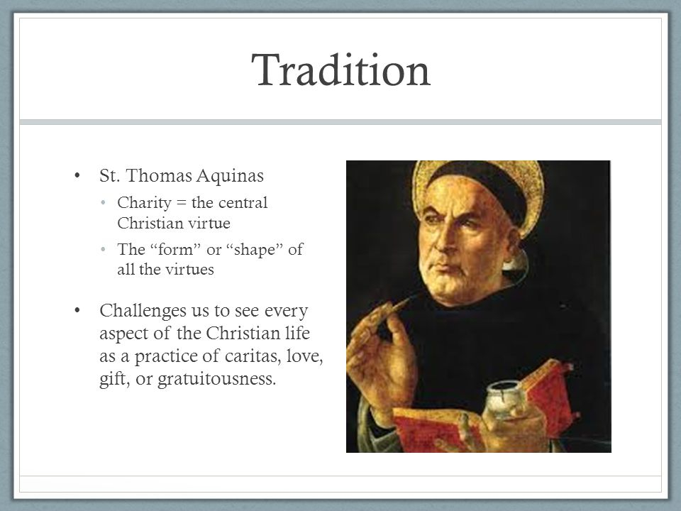 Tradition St. Thomas Aquinas