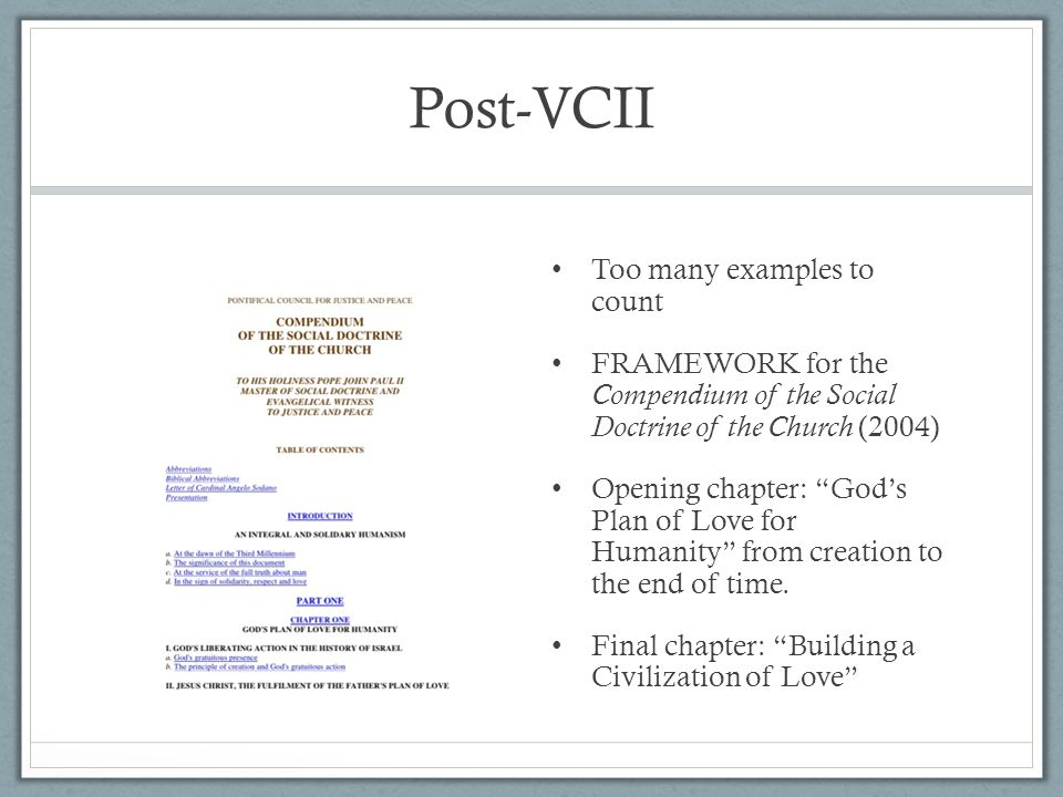 Post-VCII Too many examples to count