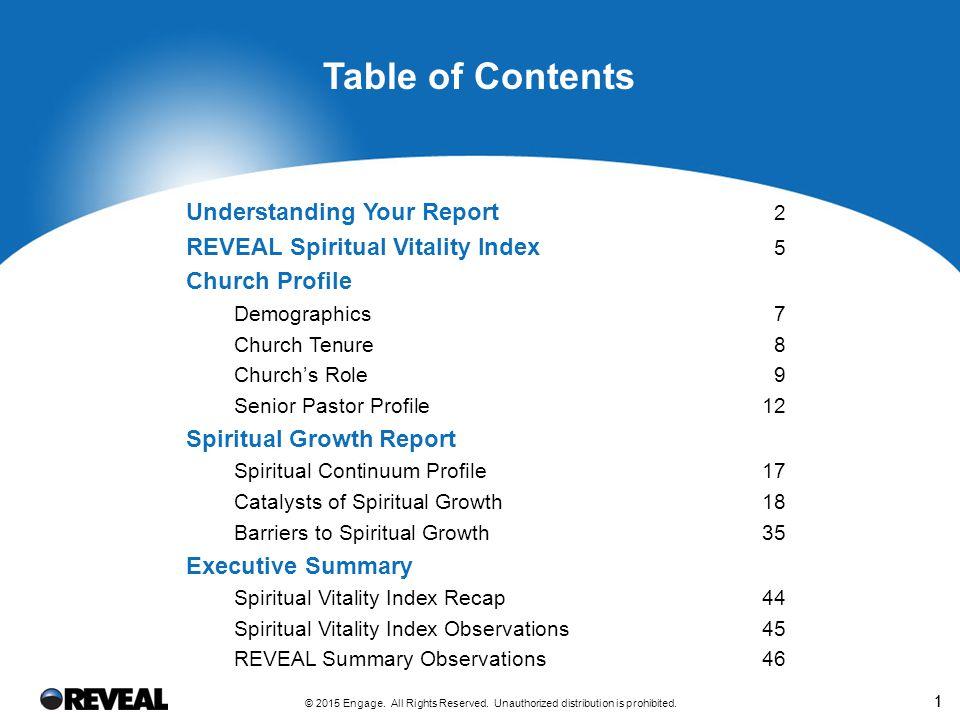 Understanding Your Report