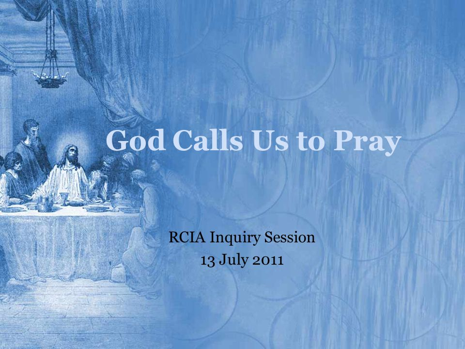RCIA Inquiry Session 13 July 2011