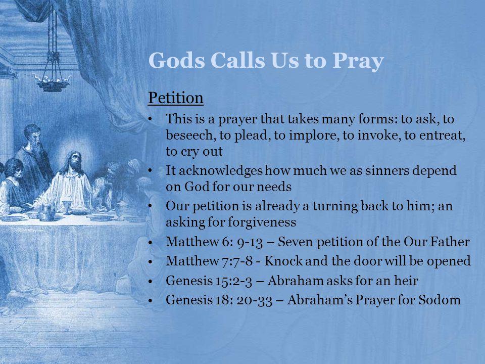 Gods Calls Us to Pray Petition