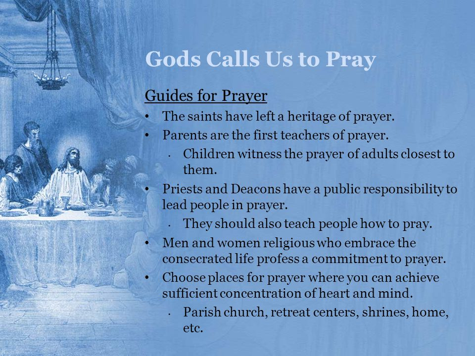 Gods Calls Us to Pray Guides for Prayer