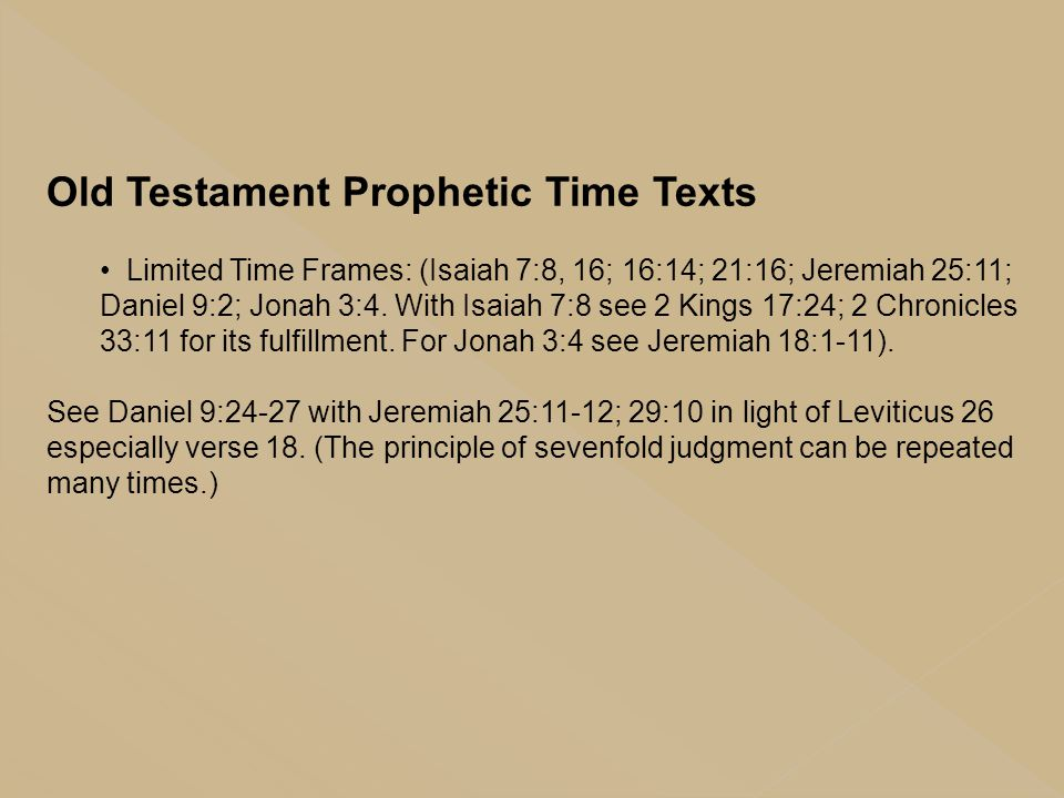 Old Testament Prophetic Time Texts