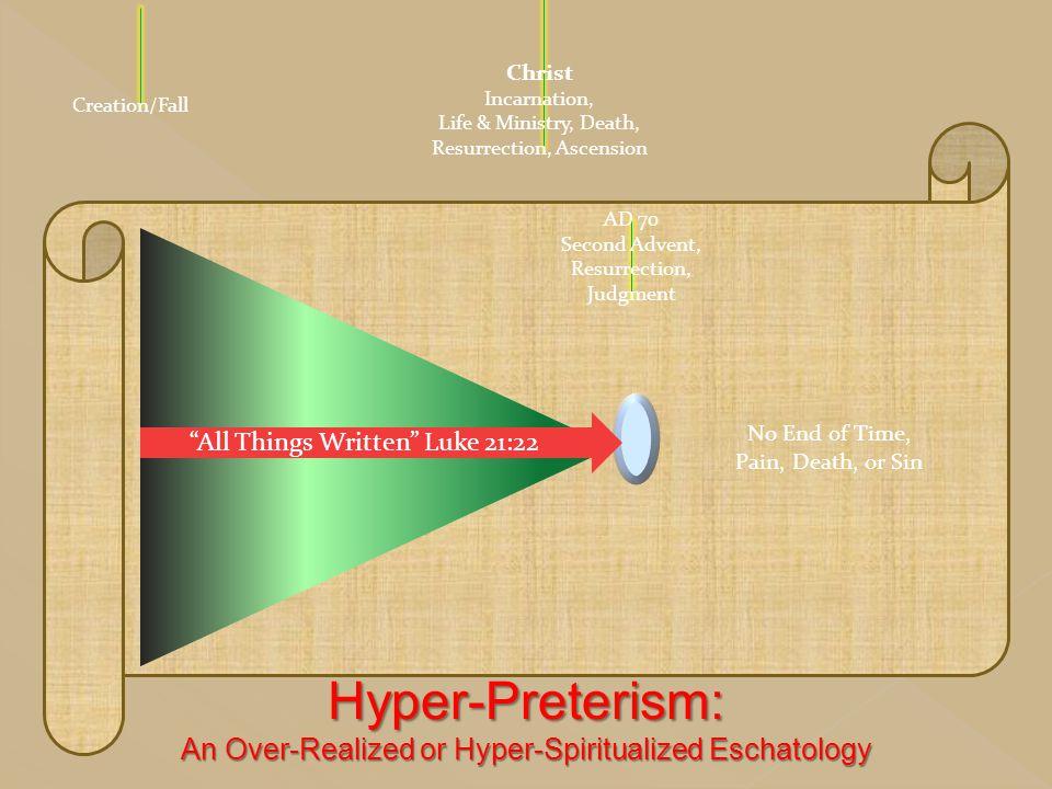 Hyper-Preterism: An Over-Realized or Hyper-Spiritualized Eschatology