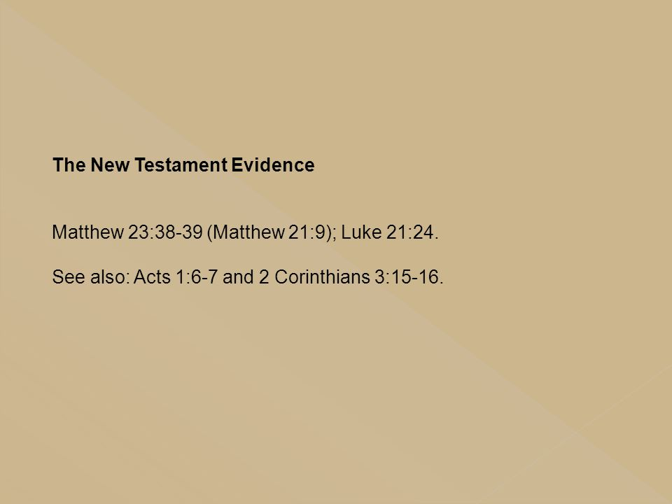 The New Testament Evidence