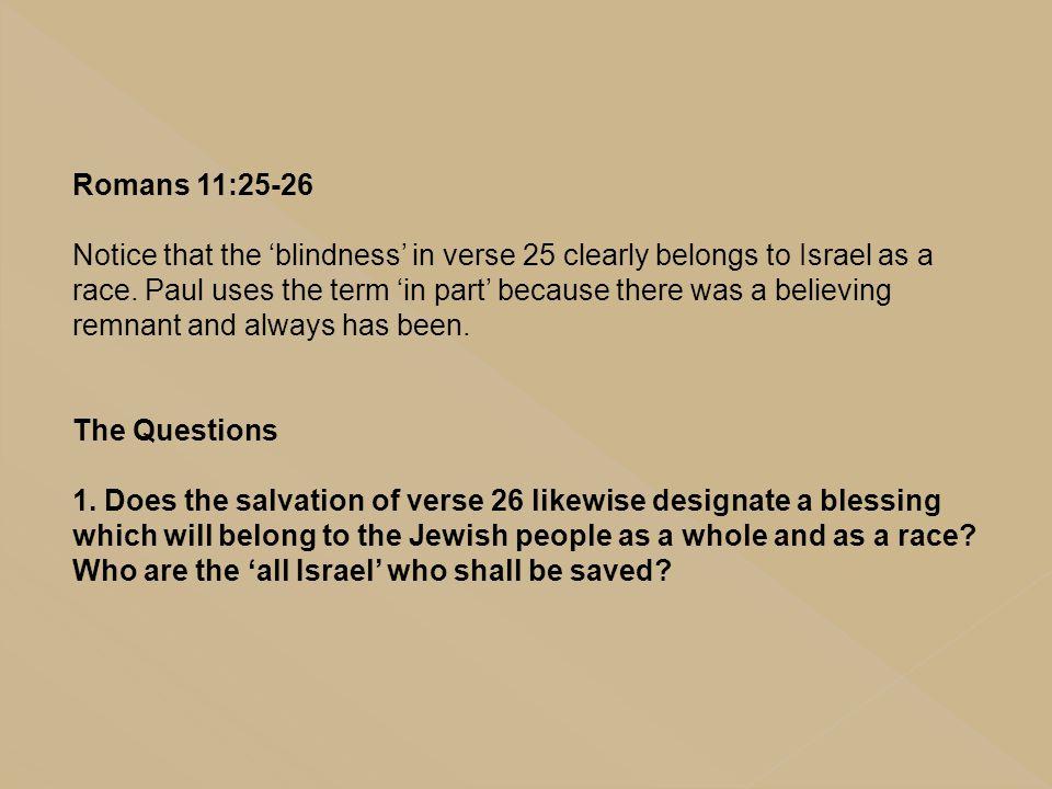 Romans 11:25-26