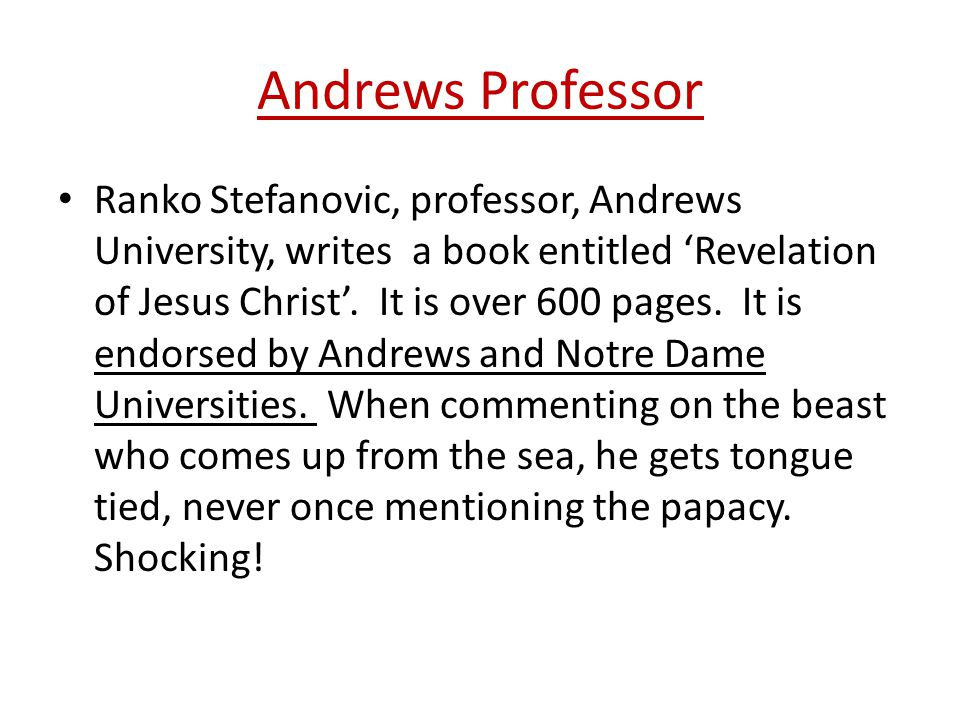 Andrews Professor