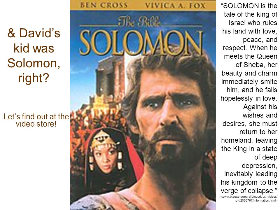 & David's kid was Solomon, right