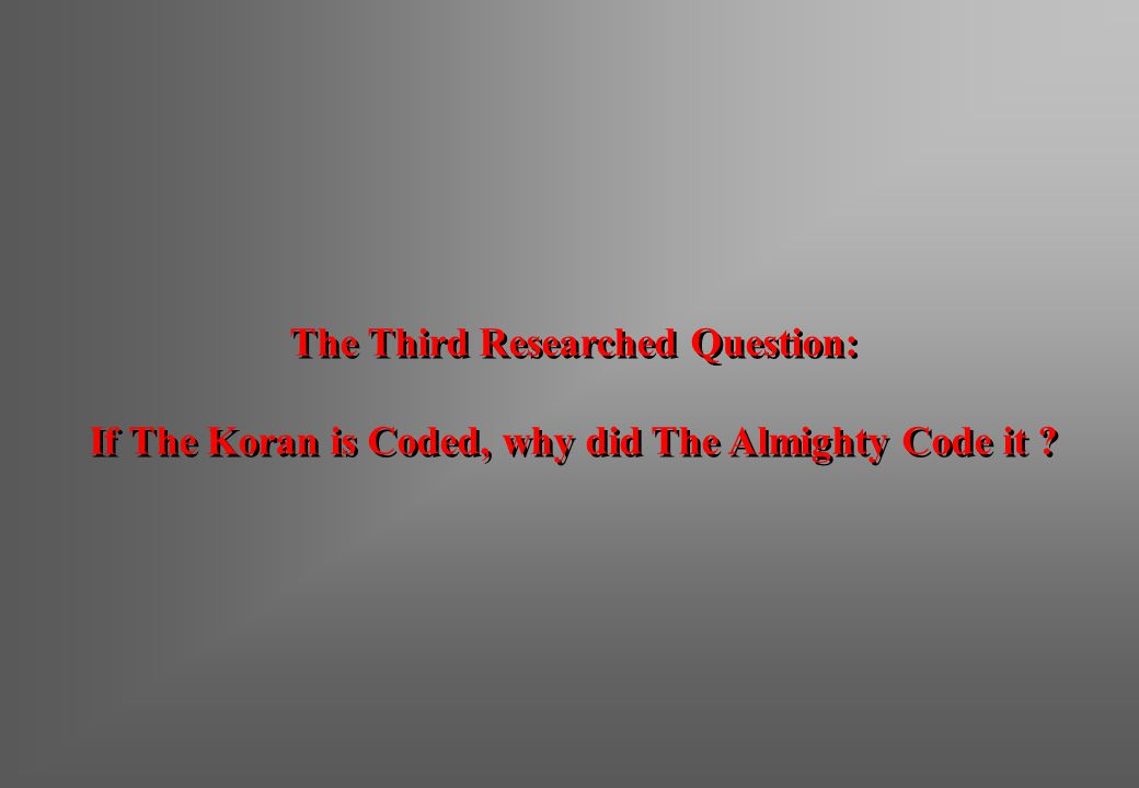 The Third Researched Question: