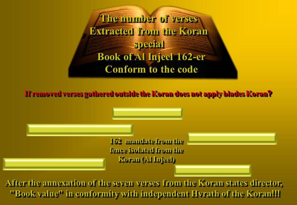 162 mandate from the fence isolated from the Koran (Al Injeel)