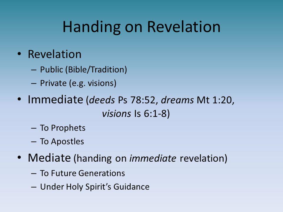 Handing on Revelation Revelation