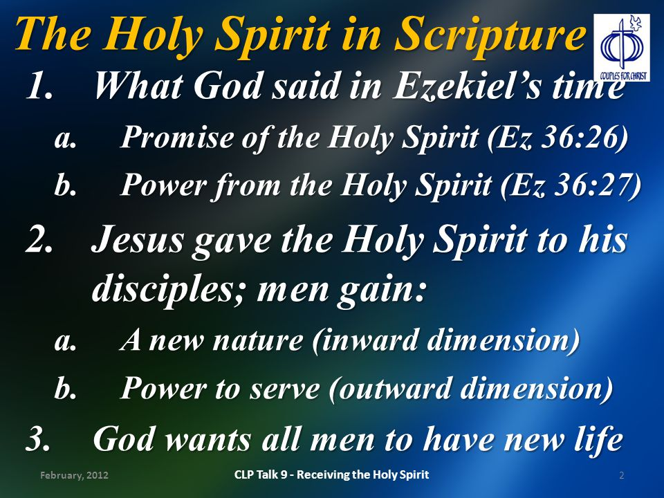 The Holy Spirit in Scripture