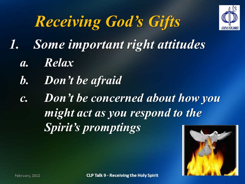 CLP Talk 9 - Receiving the Holy Spirit
