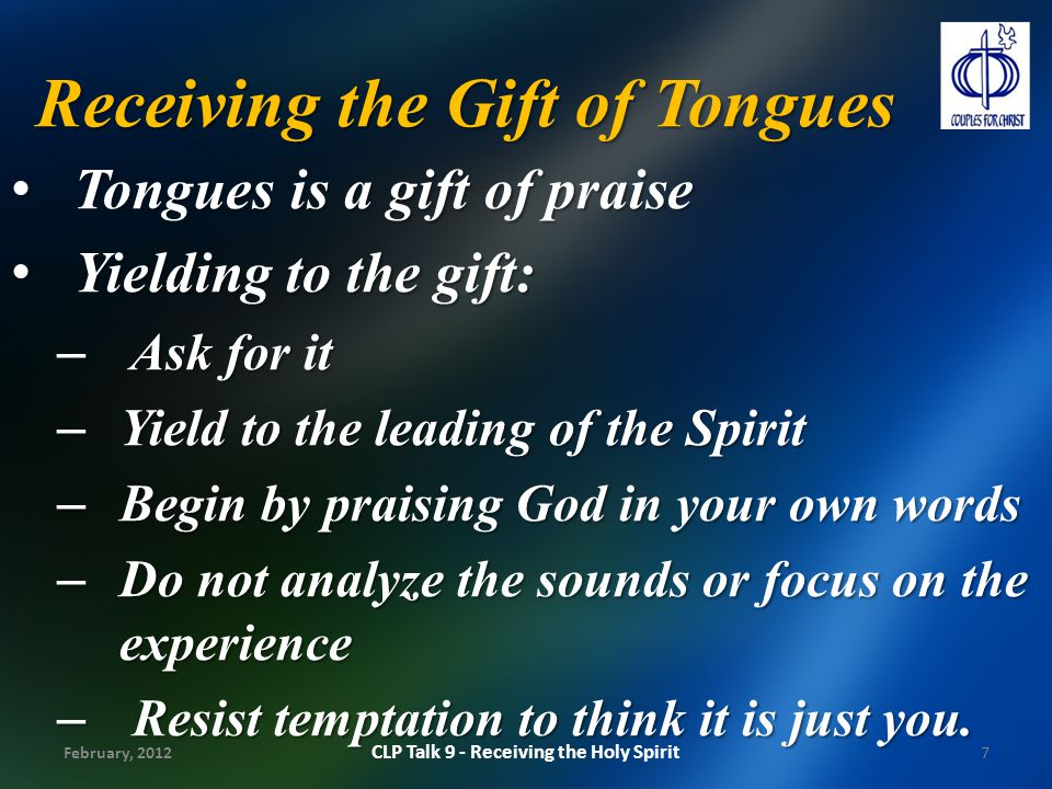 Receiving the Gift of Tongues