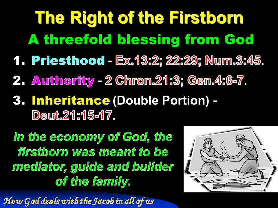 The Right of the Firstborn