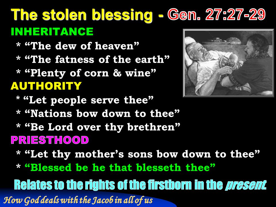 The stolen blessing - Gen. 27:27-29