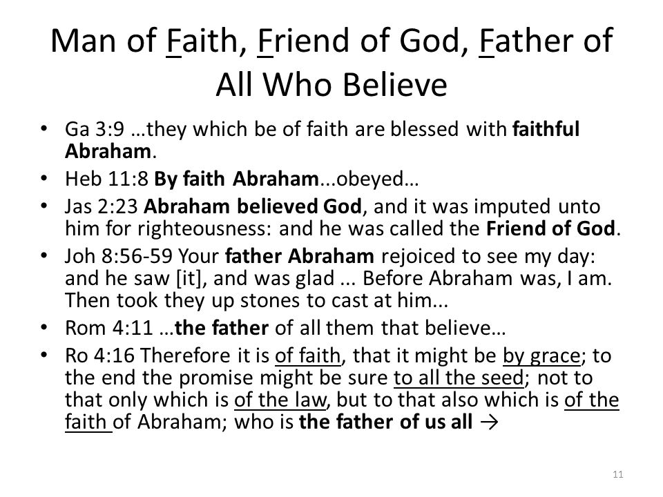 Man of Faith, Friend of God, Father of All Who Believe