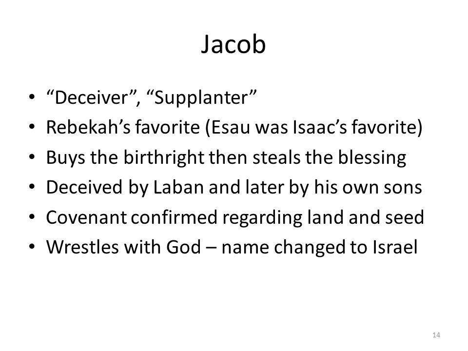 Jacob Deceiver , Supplanter