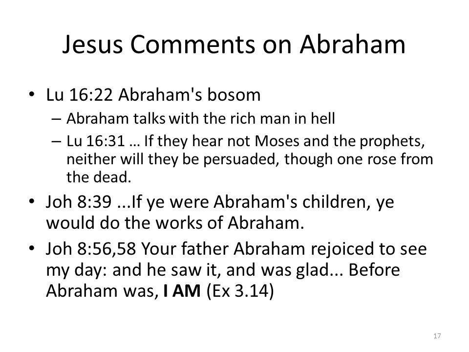 Jesus Comments on Abraham