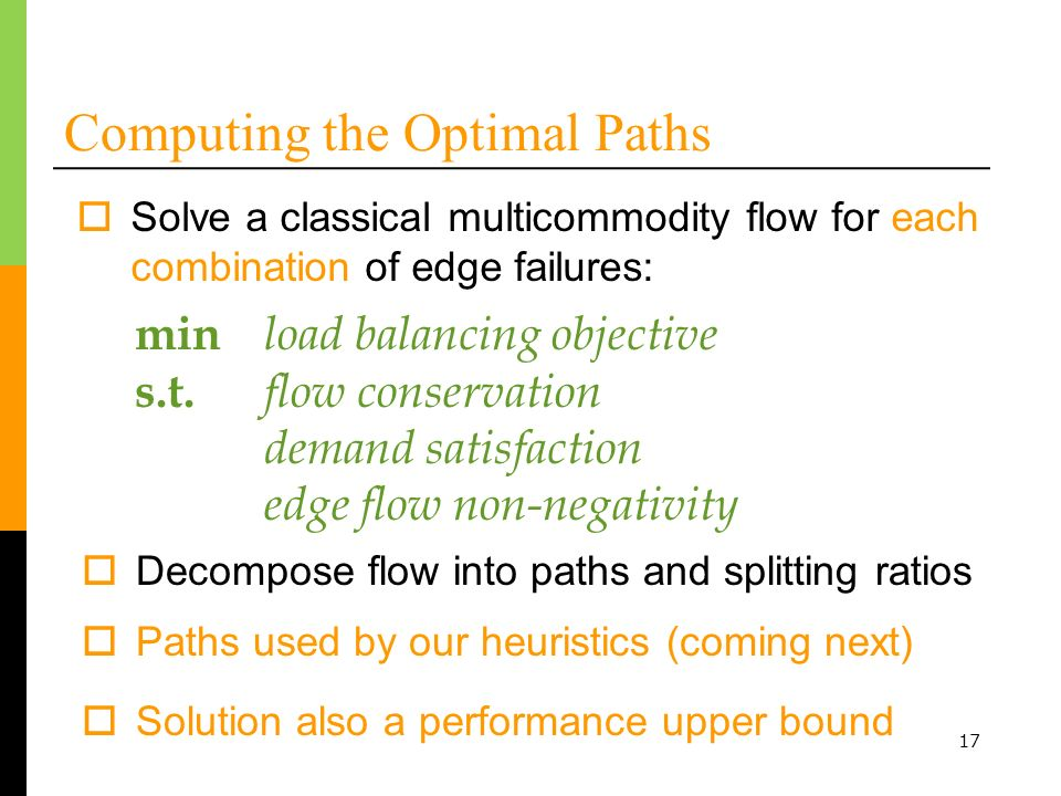 Computing the Optimal Paths