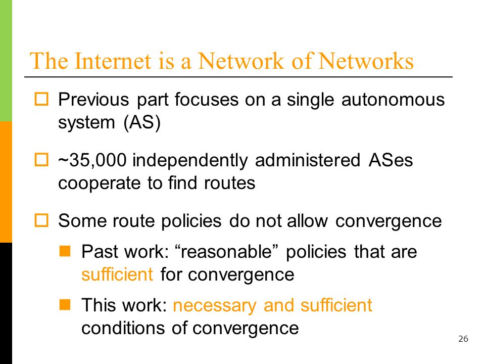 The Internet is a Network of Networks