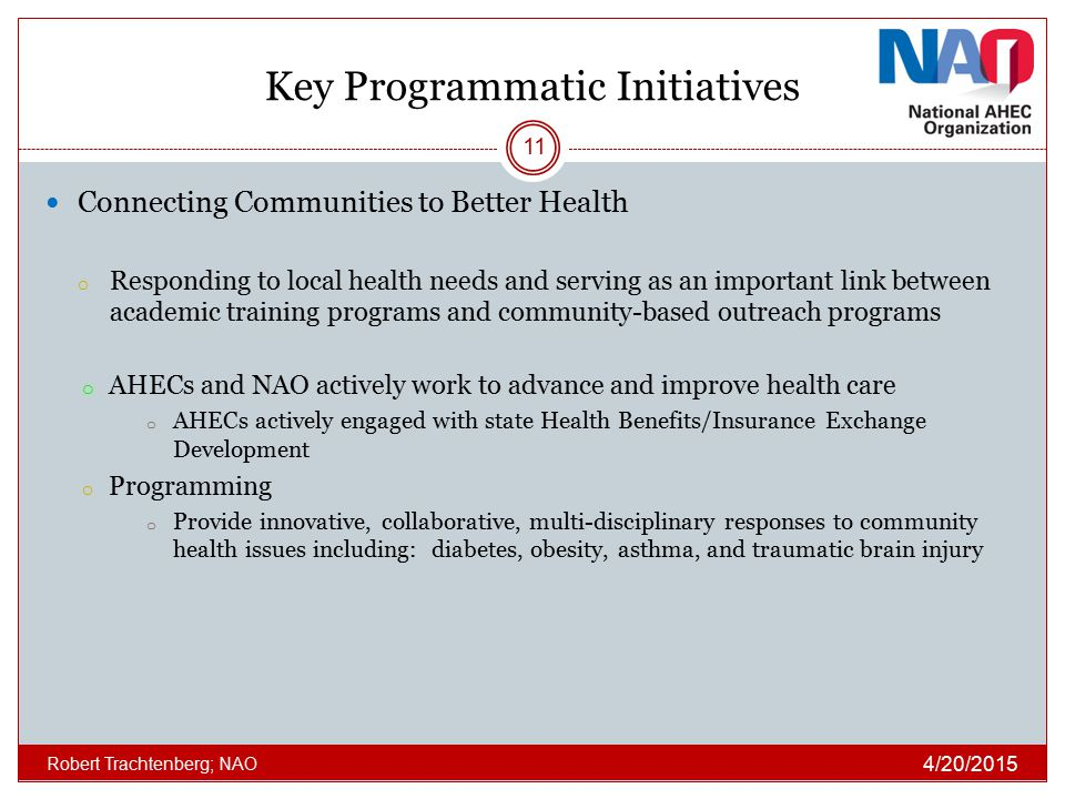 Key Programmatic Initiatives