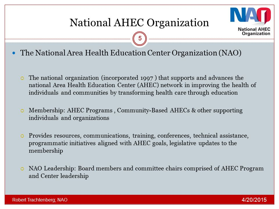 National AHEC Organization