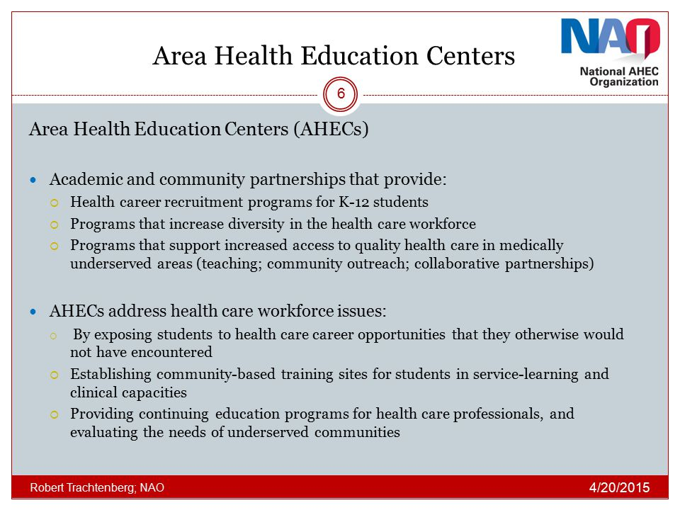 Area Health Education Centers